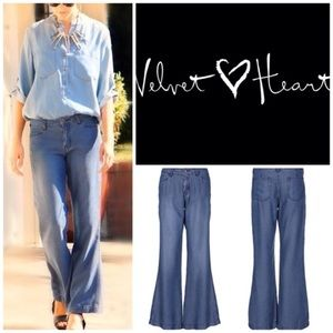 Velvet heart Wide leg chambray pants.  Size 31